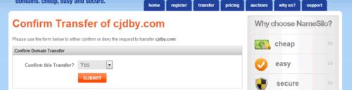 2015年域名从Godaddy转移到Namesilo图文经验